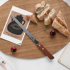 홈카페 우드핸들 빵칼 27cm / 브레드나이프