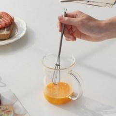 올 스텐 미니 거품기 / 홈카페 미니휘핑기 계란거품