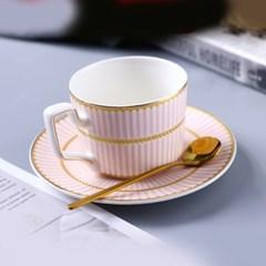 감성 북유럽 골드라인 고급 커피잔 티스푼 세트 A3