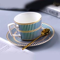 감성 북유럽 골드라인 고급 커피잔 티스푼 세트 A4
