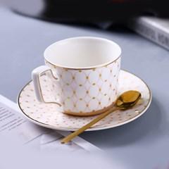 감성 북유럽 골드라인 고급 커피잔 티스푼 세트 A5