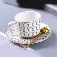 감성 북유럽 골드라인 고급 커피잔 티스푼 세트 A6