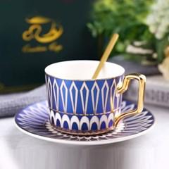 감성 북유럽 골드라인 고급 커피잔 티스푼 세트 A10