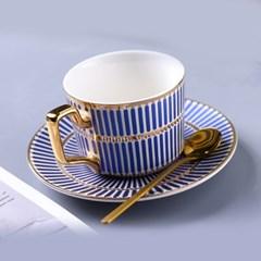 감성 북유럽 골드라인 고급 커피잔 티스푼 세트 A12