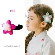 채니봉봉 [추석선물세트] 한복 머리띠+머리핀 2개 구성