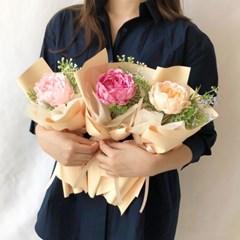 작약비누꽃 한송이꽃다발