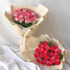 투톤비누장미꽃다발