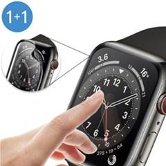 애플워치 40mm 44mm 풀커버 강화유리 액정보호필름 2개