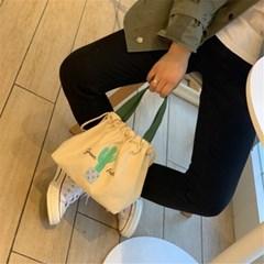 캔버스 복주머니 도시락 가방 에코백 쇼퍼백 핸드백 J