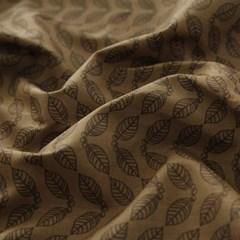 [Fabric] 커피잎 스탬프 패턴 코튼