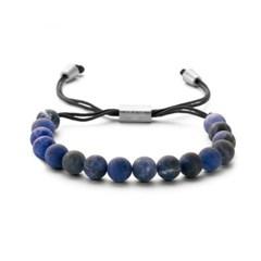 [프랭크1967] 소달라이트 원석 매듭 비즈팔찌 블루 (7FB-0268)
