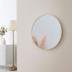 스노우 무광 골드 프레임 원형 거울 500