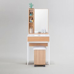 피킷 스틸 수납 화장대 500 거울 + 의자 포함 (착불)