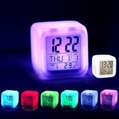 LED 무드등 알람시계 탁상시계