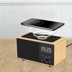 LED 탁상시계 알람 통화 음악 라디오 블루투스 스피커 고속무선충전
