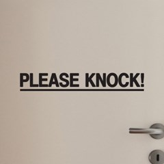 라인 please knock 노크표시 도어 스티커