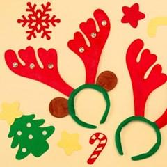 눈사람 산타 루돌프 LED 머리띠 파티용품 모음