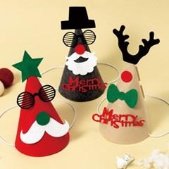 크리스마스 꼬깔모자 크리스마스 생일 파티 용품 산타모자
