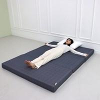 3단 접이식 바닥 토퍼 침대 자취 원룸 수면 기절 마약 매트리스 매트