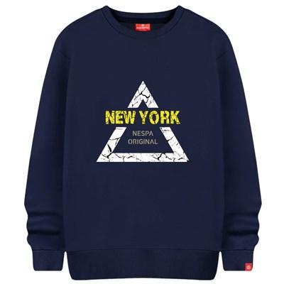 삼각뉴욕 맨투맨 티셔츠 빅사이즈 남녀공용