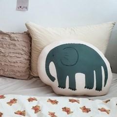 모찌모찌 해피사바나 동물 쿠션 - 코끼리
