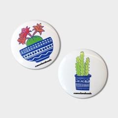 [pin button] Plant 반려 식물 선인장 화분 핀버튼 브로치