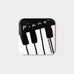 [pin button] Piano 피아노 건반 음악 뮤직 핀버튼 브로치