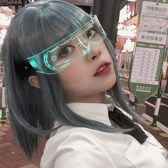사이버 펑크 주다사 고글 안경 2type [LED 외계인 특이한 선글라스]
