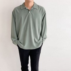 여름 남성 오버핏 세미 캐주얼 오픈카라 단추 셔츠남방