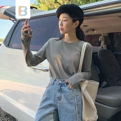 [MADE]WOOLEN 베이직골지티셔츠 (3color)
