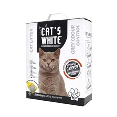 고양이 배변모래 캣츠화이트 초미세입자 무향 6L 두부모래