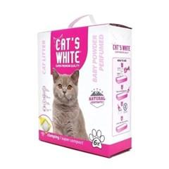 고양이 배변모래 캣츠화이트 미세입자 베이비파우더향 6L 두부모래