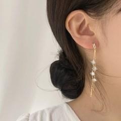 [웨딩][귀찌가능] 우아한 드레스 사각 큐빅 파티 웨딩 귀걸이