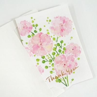 플라워 감사 카드