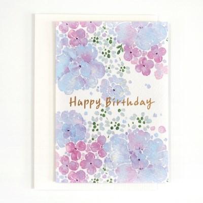 플라워 생일 카드