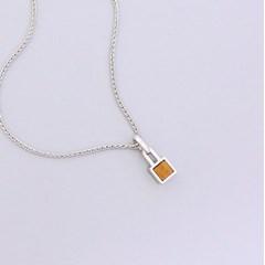 925 silver [color vine] 천연 호안석 네크리스