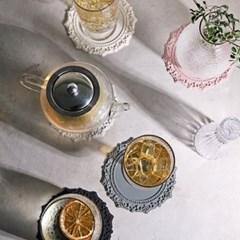아멜리아 실리콘 티코스터 컵받침 2개 세트 (원형) 6colors