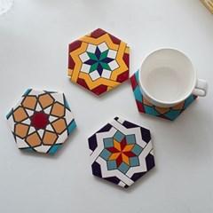 세라믹 타일 티코스터 도자기 컵받침 받침대 세트 SH014