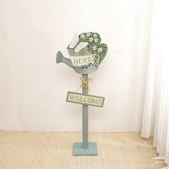 우드 허브 꽃가게 표지판