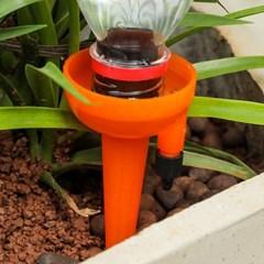 타이밍 화분 자동급수기 12p(오렌지)