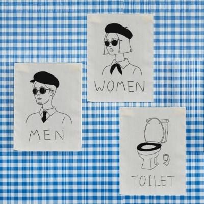 미니 포스터 / 패브릭 포스터_toilet (4종세트)