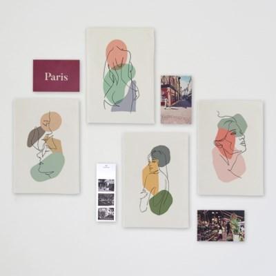 미니 포스터 / 패브릭 포스터_color drwaings (4종세트)