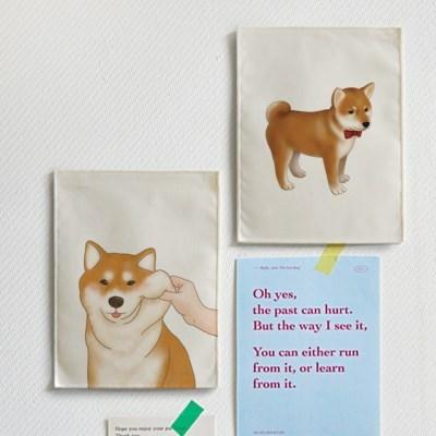 미니 포스터 / 패브릭 포스터_shiba/시바견 (4종세트)