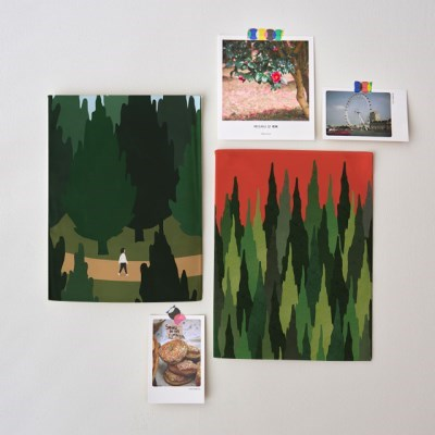 미니 포스터 / 패브릭 포스터_forest road (4종세트)