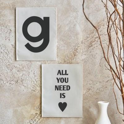 미니 포스터 / 패브릭 포스터_lettering/레터링 B (4종세트)