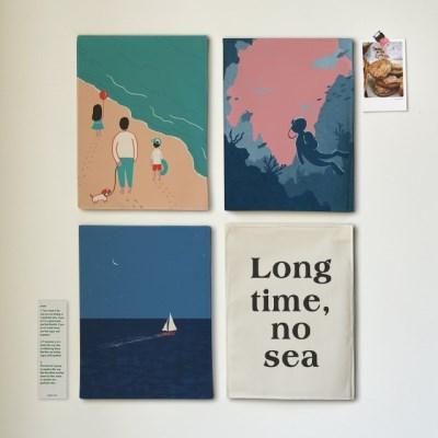 미니 포스터 / 패브릭 포스터_sea/바다 A (4종세트)
