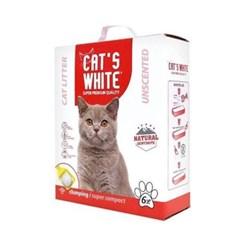 고양이 배변모래 캣츠화이트 미세입자 무향 6L 두부모래