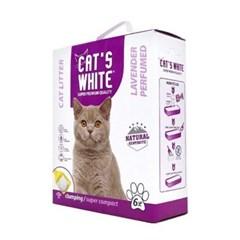 고양이 배변모래 캣츠화이트 미세입자 라벤더향 6L 두부모래