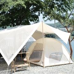 메종 빌라 감성 캠핑 면 돔 이너 텐트