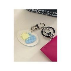 Sun And Love 양면 아크릴 키링 에어팟 1,2 프로 키홀더 열쇠고리
